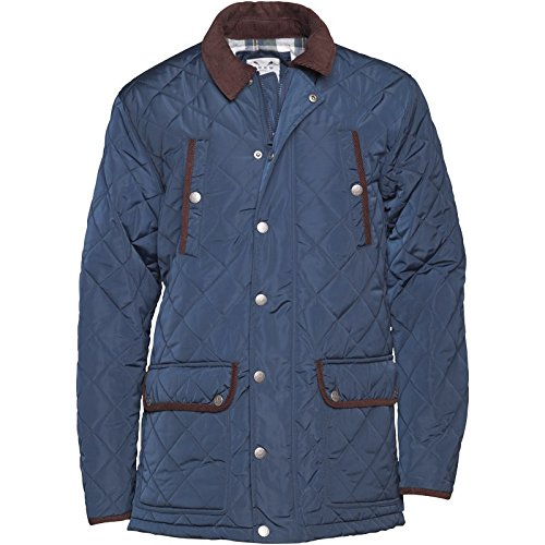 Navy/Braun Crew Clothing Herren Aintree Wattierte Jacke Navy