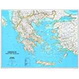 (24x30) Map of Greece Educational Poster Print