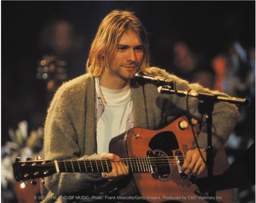 Licenses Products Kurt Cobain Playing Sticker