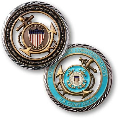 U.S. Coast Guard Core Values Coin