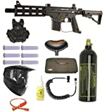 US Army Project Salvo Paintball Marker Gun 3Skull Vest Sniper Set