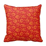 Decorative Cotton Africa art Red & Orange Dragon Pattern Throw Pillow Covers