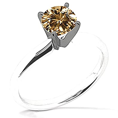 0.50 ct. champagne diamond solitaire ring jewelry gold