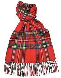 Lambswool Scottish Stewart Royal Modern Tartan Clan Scarf Gift