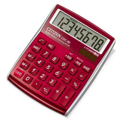 dictionnaires fr citizen calculatrice pour le bureau et la maison rouge. Black Bedroom Furniture Sets. Home Design Ideas