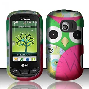 For LG Extrovert VN271 (Verizon) Rubberized Design Cover - Owl Design