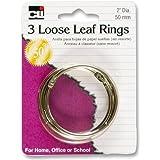 """Charles Leonard Rings - Loose Leaf - 2"""" Diameter - 3/Card, 65020"""
