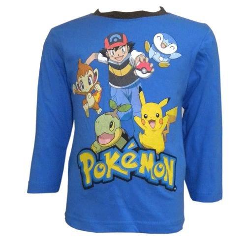 Camiseta-de-manga-larga-diseo-de-Pokemon