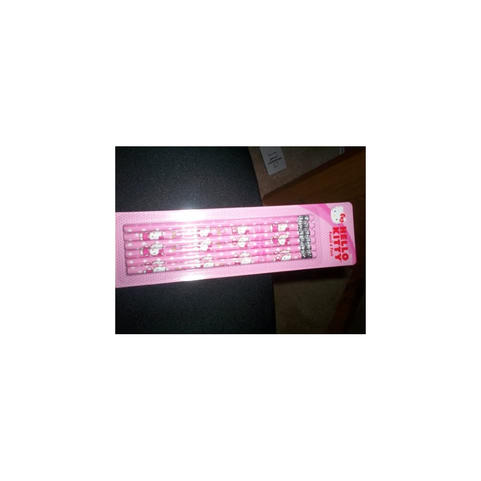Hello Kitty Pencil 6 Pack Pink