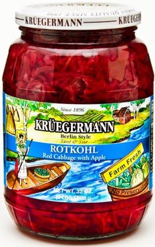 Rotkohl Red Cabbage 32 fl oz (Kruegermann Sauerkraut compare prices)