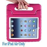 MYCARRYINGCASEキッズArmorBoxキックスタンドカバーケース (iPad Air, 桃色)