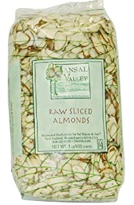 Jansal Valley Raw Sliced Almonds, 1 Pound