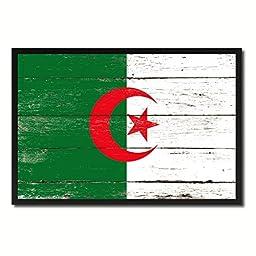 Algeria National Shabby Chic Flag Art Canvas Print Wall Home Décor Interior Design Souvenir Gift Ideas