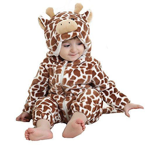 Tonwhar Unisex-baby Animal Onesie Costume Cartoon Pajama Homewear (80(Height:26