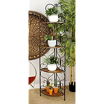 Deco 79 69873 Metal Wood Corner Rack, 18 by 66-Inch