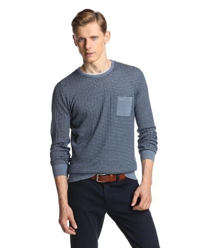 Ben Sherman Men's Crew Neck Sweater Shadow Check Sweater
