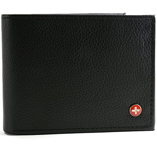 rfid-safe-alpine-swiss-mens-leather-wallet-hybrid-bifold-with-flipout-id-black