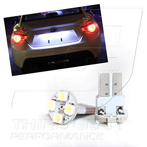 Tgp T10 White 4 Led Smd License Plate Wedge Light Bulbs Pair 2000-2013 Dodge Ram (All)