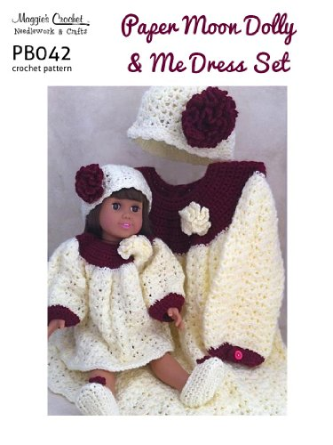Crochet Pattern Paper Moon Dolly & Me Set PB042-R