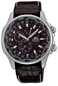 Orient Men's CEY04004B World-Time Black Automatic Watch