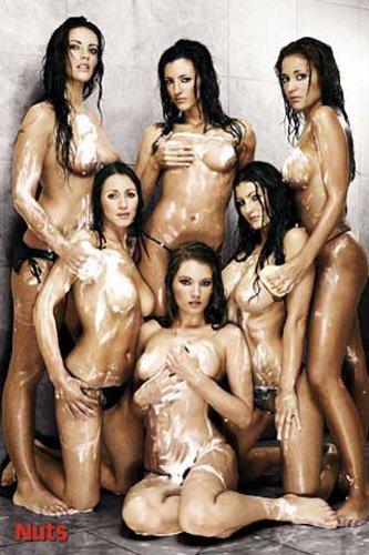 Girls - NUTS - Shower - Akt Poster Erotik Poster nackte hot Girls schöne Frauen - Grösse 61x91,5 cm