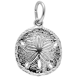 Rembrandt Charms Sand Dollar Charm, 14K White Gold