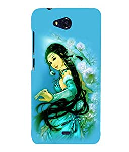 printtech Beautiful Anime Chinese Girl Back Case Cover for Micromax Bolt Q335