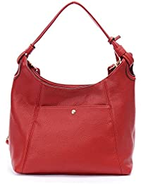 DDDH Stylish 2 Ways Everyday Hobo Satchel Cross-body Shoulder Tote Top Handle Handbag For Women(Red)