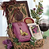 Wine Lovers Delight Premium Wine and Cheese Gift Basket