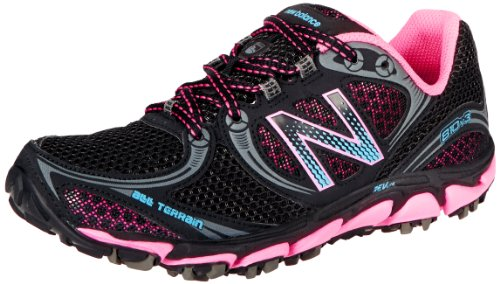 New Balance Women'S Wt810 Trail Running Shoe,Black/Pink,7 D Us