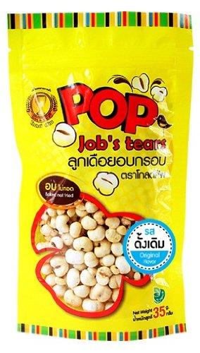 Pop Job'S Tears Original Flavor 35G. High Fiber. No Cholesterol. Real Healthy Snack. [Free Cereal Bar]
