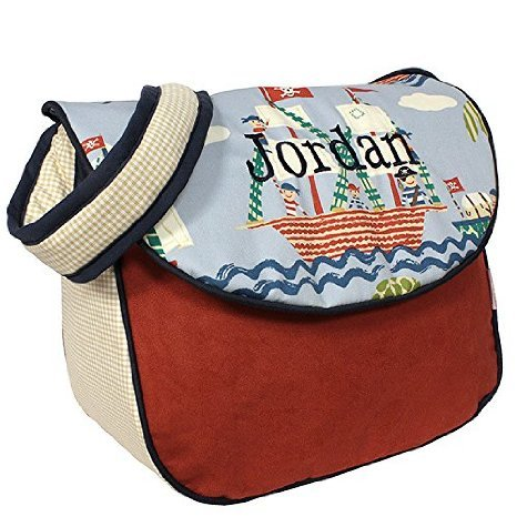 Hoohobbers Messenger Diaper Bag, Ahoy