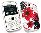 FLASH SUPERSTORE SAMSUNG CH@T CHAT 335 ( S3350 ) LCD SCREEN PROTECTOR AND GEL SKIN COVER ORIENTAL FLOWERS