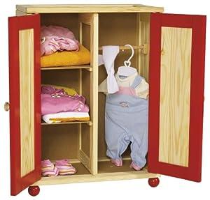 ... - Armadio in Legno per Bambole: Amazon.it: Giochi e giocattoli