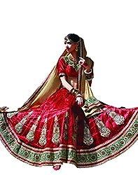 DesiButik's Wedding Wear Ravishing Red Net Lehenga