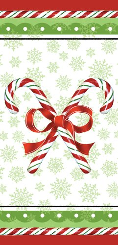 Christmas Candy Canes Cello Treat Bags - 20/Pack (9in.x4in.)