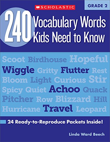 240 Vocabulary Words Kids Need to Know: Grade 2: 24 Ready-To-Reproduce Packets Inside! (Teaching Resources)