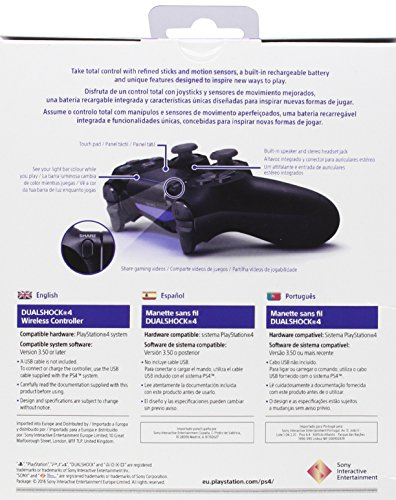 Sony - DualShock 4 Black V2 (PS4)