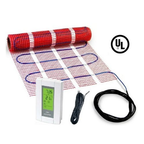20 sqft HeatTech 120V Electric Tile Radiant Floor Heating Mat Kit (Heated Tile Floor compare prices)
