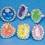 Colorful Rhinestone Rings (6 dz)