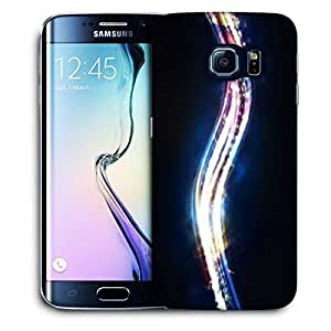 Snoogg Shiny Wave Printed Protective Phone Back Case Cover For Samsung Galaxy S6 EDGE / S IIIIII