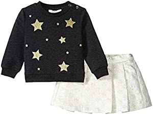 kate spade york Baby Girls Babies' Star Sweatshirt Set, Black/Cream/Gold, 18M from Global Brands Group - Quidsi
