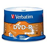 Verbatim 95101 4.7 GB up to 16x Branded Recordable Disc DVD-R (50-Disc Spindle)