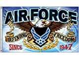 New 3X5 U.S. Air Force Airforce Defending Freedom Fighter Quality Flag
