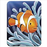 Tropical Nemo Type Clown Fish Swimming Premium Quality Thick Rubber Mouse Mat Pad Soft Comfort Feel Finish
