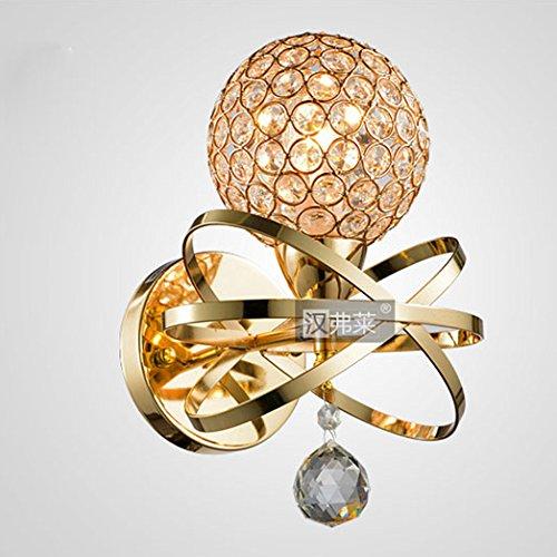 Modern Corridor Crystal Wall Lights Creative Hallway Gold / Silver Crystal Ball Wall Sconces (Gold, Large)
