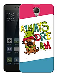 """Humor Gang Always Dream Cute Quote Printed Designer Mobile Back Cover For """"Xiaomi Redmi Note 2"""" (3D, Matte, Premium Quality Snap On Case)"""