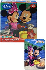 Mickey and Minnie Floor Puzzle, 46-Piece