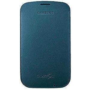 Samsung Original Tasche in Lederoptik EFC-1G6LBECSTD (kompatibel mit Galaxy S3 / S3 LTE) in navy