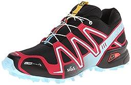 Salomon Women\'s Speedcross 3 CS Trail Running Shoe, Black/Lotus Pink/Air, 9 M US